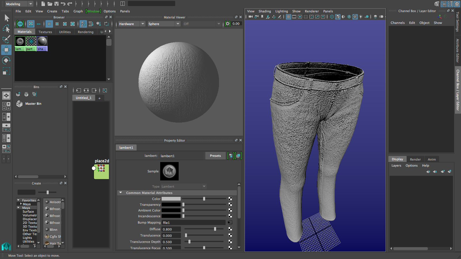 Womens Jeans | 2018<br>Manipulating the bump value and bump depth is important for realistic bump maps.